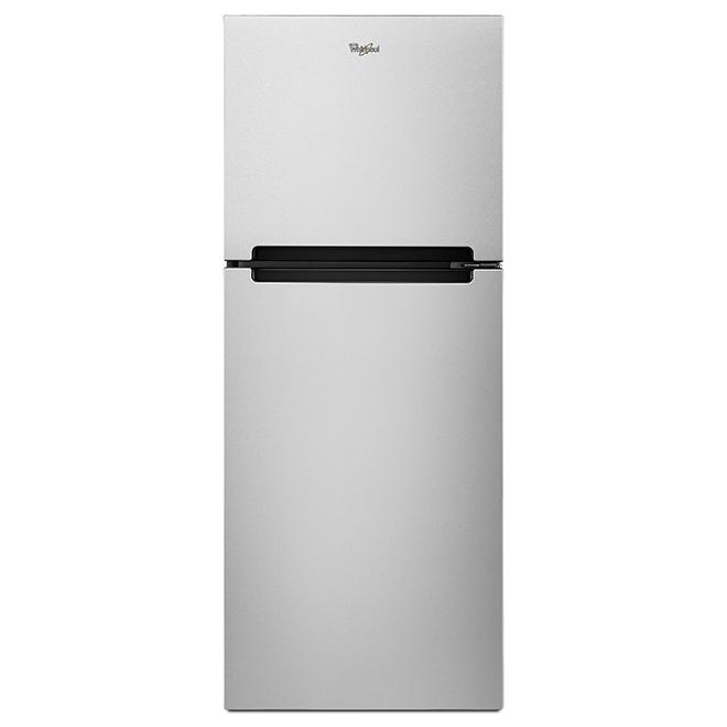 Réfrigérateur à congélateur supérieur Whirlpool, 11 pi³, inox