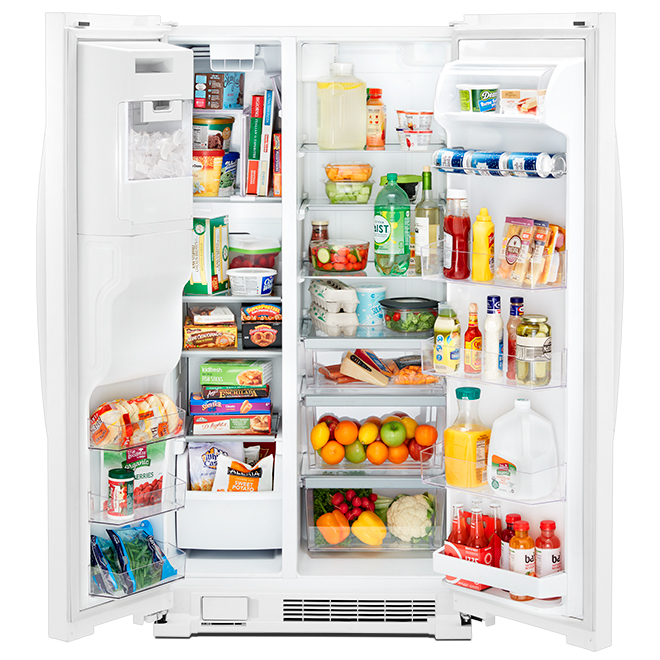 """Whirlpool Side-by-Side Refrigerator - 36"""" - 25 cu. ft. - White"""