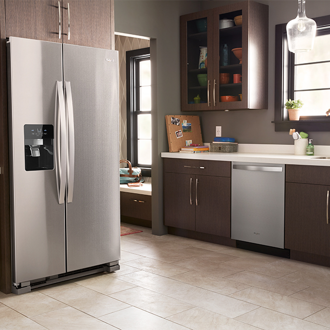 Side by Side Refrigerator - 25 cu. ft. - Stainless Steel