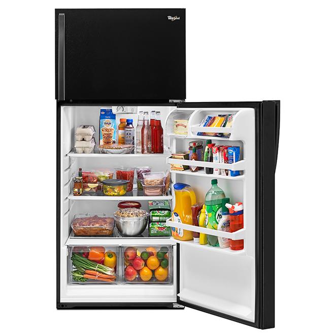 """Réfrigérateur congélateur supérieur 28"""", 14,3 pi³, noir"""
