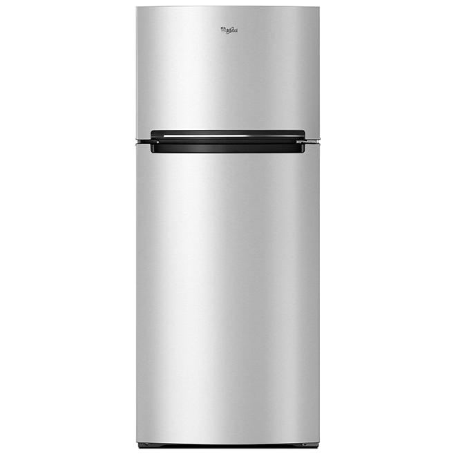 """Réfrigérateur congélateur supérieur 28"""", 18,0 pi³, métallique"""