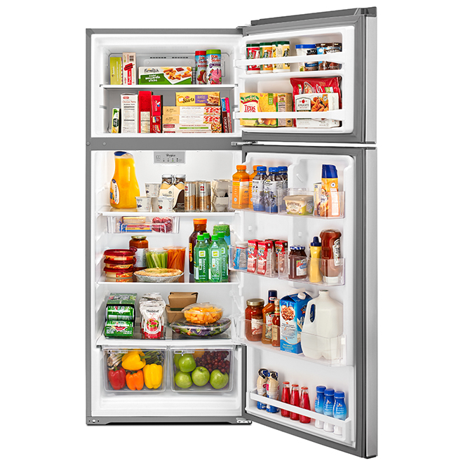 "Top-Freezer Refrigerator - 28"" - 18.0 cu. ft. - Metallic"