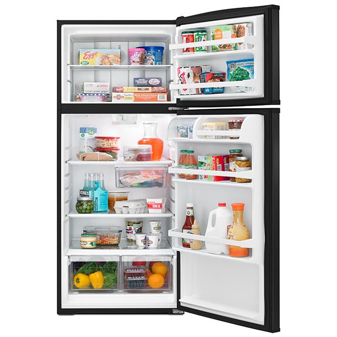 "Top-Freezer Refrigerator - 28"" - 16.0 cu. ft. - Black"