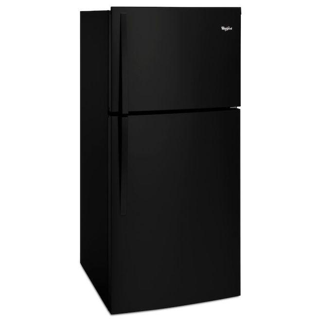 "Top-Freezer Refrigerator - 30"" - 19.2 cu. ft. - Black"