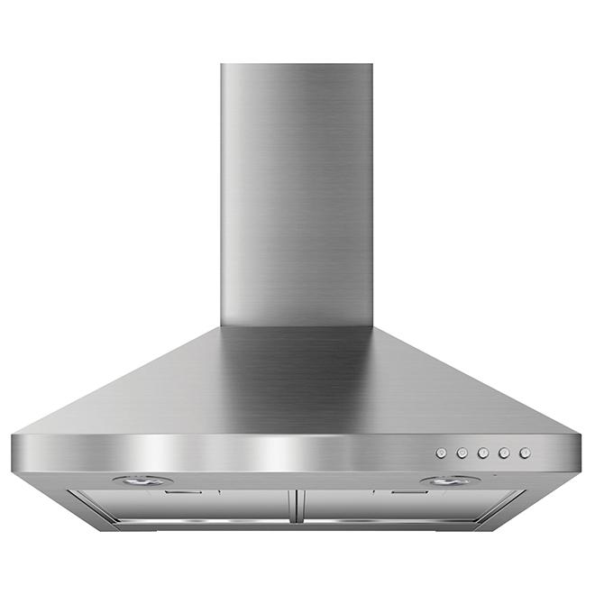 """Hotte cheminée Whirlpool(MC) de 24"""", 300 PCM, acier inoxydable"""