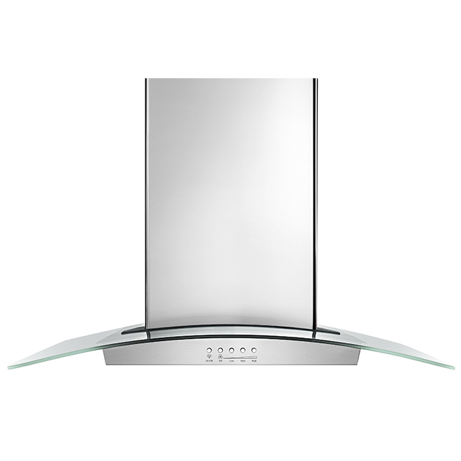 "Island Kitchen Hood - 36"" - 400 CFM - Stainless Steel"