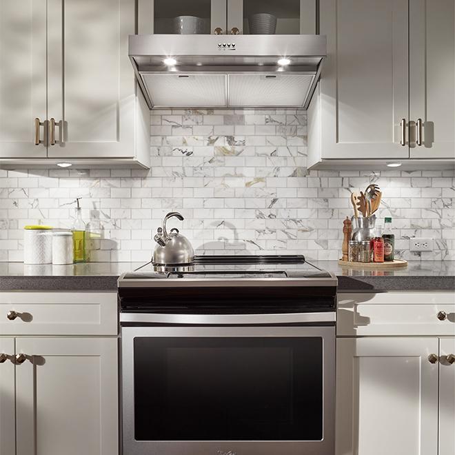 Hotte de cuisinière, sous-armoire, 30'', 265PCM, inox
