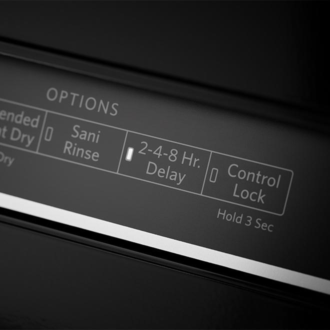 "24"" Built-in Dishwasher with ProWash(TM) - 46 dBA - Black"