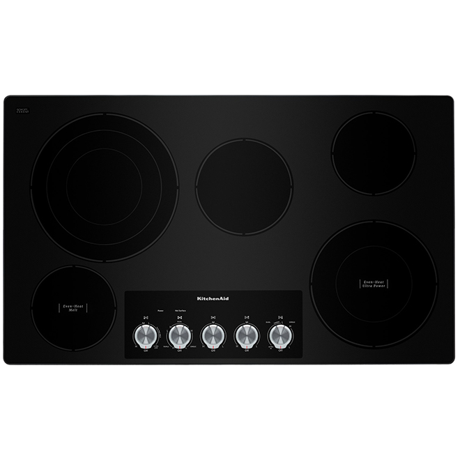 "Electric Cooktop - 5 Burners - 36"" - Stainless Steel"