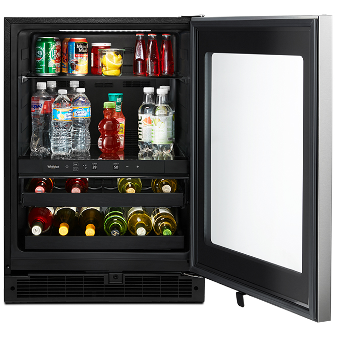 Undercounter Wine Cooler - 14 Bottles - Stainless Steel