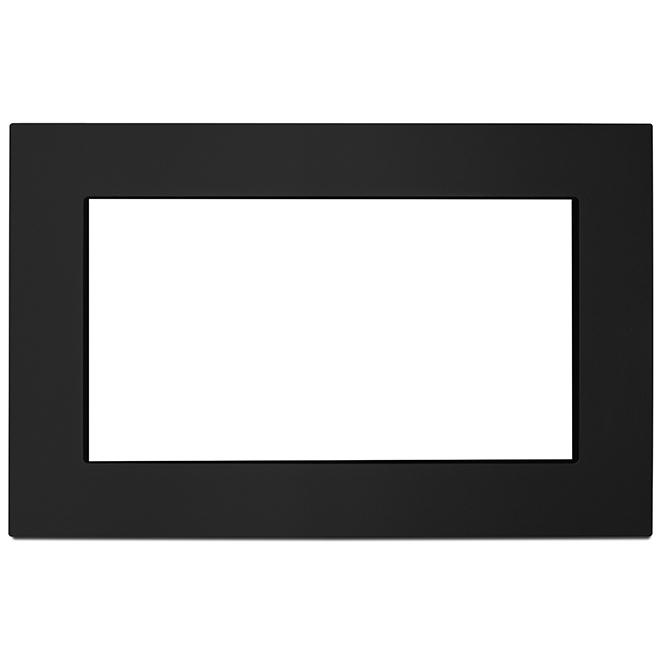 """Ensemble d'encastrement pour micro-ondes, 27"""", noir"""