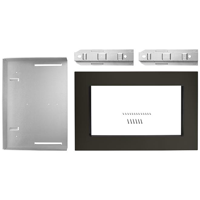 """Microwave Trim Kit - 27"""" - Black Stainless Steel"""