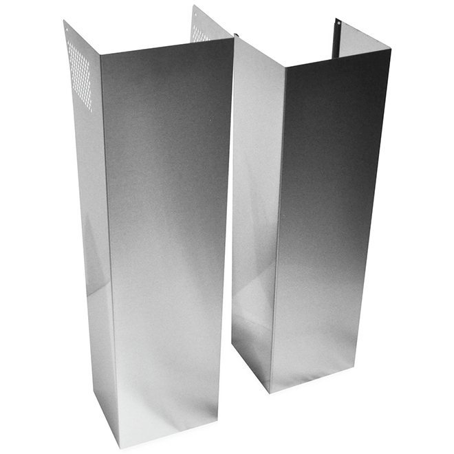 Duct Cover for Kitchen Hood - 9 to 12' - Stainless Steel