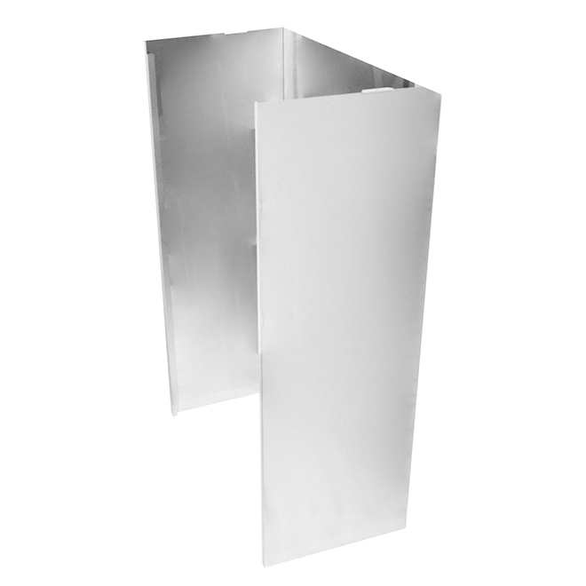 Wall Hood Extension - 36'' - Stainless Steel