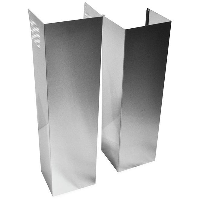 Whirlpool(TM) Wall Hood Extension Kit - 32'' - Stainless Steel