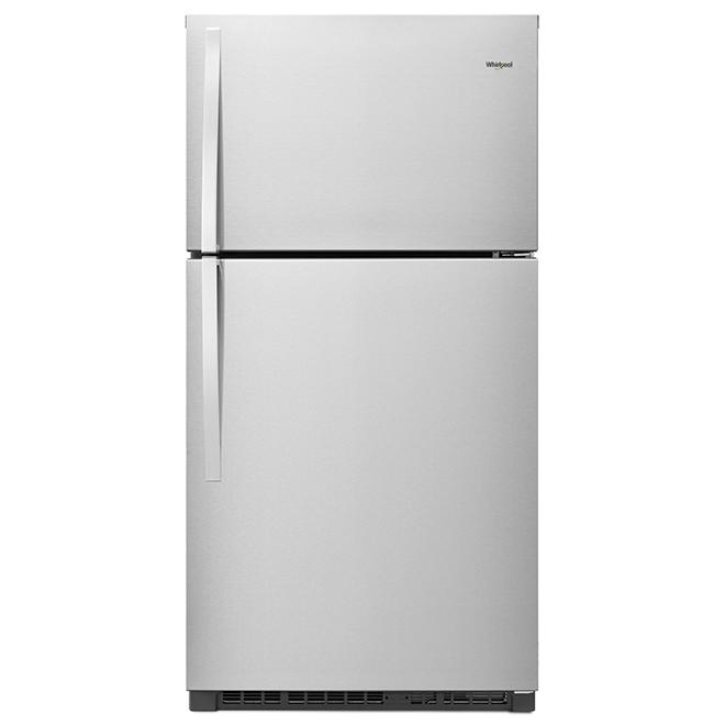 "Top-Freezer Refrigerator 33"" - 21 cu. ft - Stainless Steel"