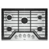Whirlpool(TM) Gas Cooktop with SpeedHeat - 5 Burners - 30