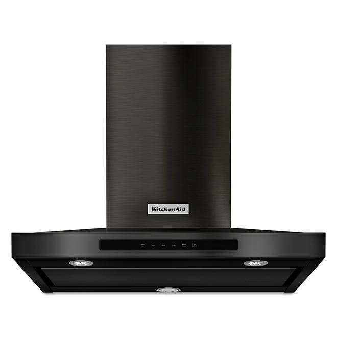 KitchenAid 36'' Chimney Range Hood - 600 CFM - Black Stainless