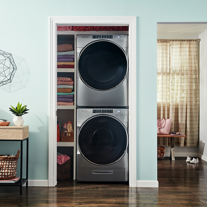 Gas Dryer with Steam Cycles - 7.4 cu. ft. - Chrome Shadow