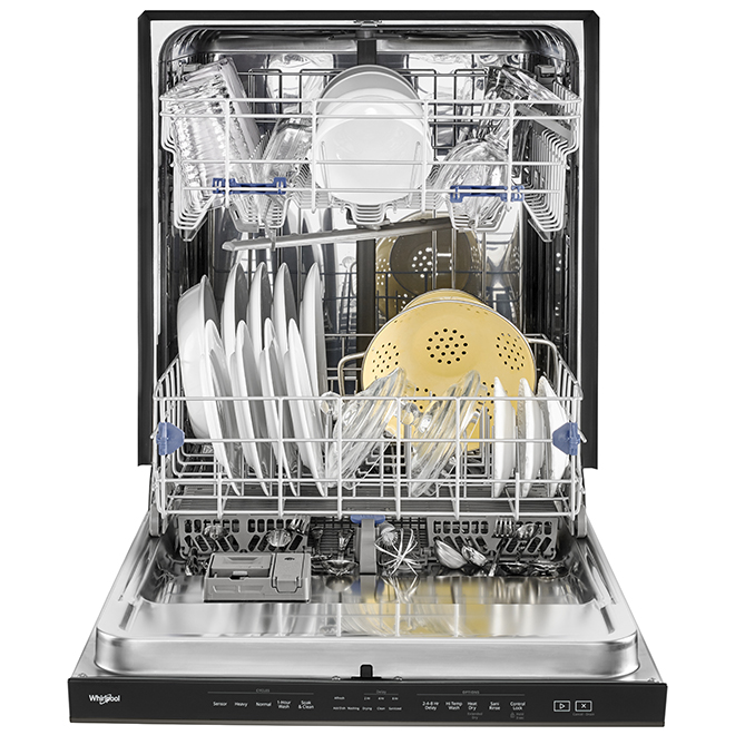 "Built-In Whirlpool Dishwasher - 24"" - Black Stainless Steel"
