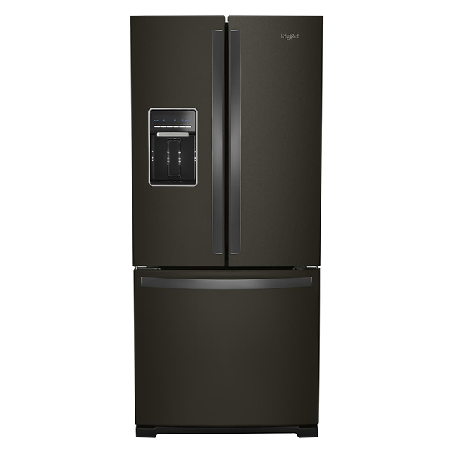 """Smudge-Proof French-Door Refrigerator - 30"""" - Black Stainless"""