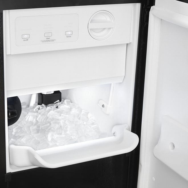 "Whirlpool(R) Freestanding Ice Maker - 33.6"" x 15"" - Black"
