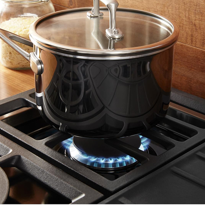 """Table de cuisson encastrée à gaz, 4 brûleurs, 30"""", inox"""