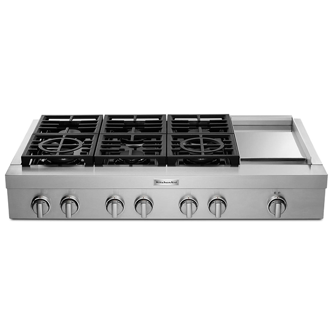 """Built-In Gas Cooktop/Griddle - 48"""" -  6 Burners - Stainless"""