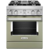 Dual-Fuel Range - 4 Burners - 4.1 cu. ft. - Avocado Cream