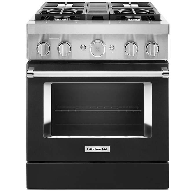 Dual-Fuel Range - 4 Burners - 4.1 cu. ft. - Imperial Black