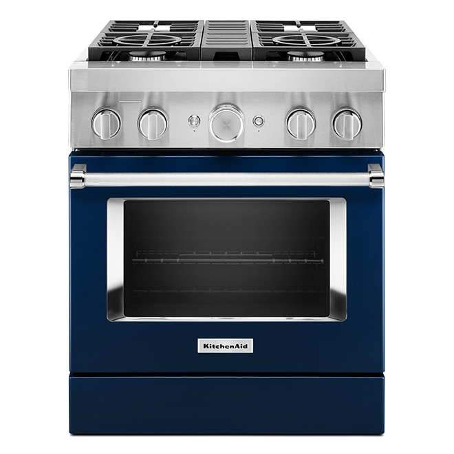 Dual-Fuel Range - 4 Burners - 4.1 cu. ft. - Ink Blue