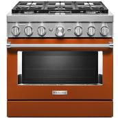 "KitchenAid Dual-Fuel Range - 36"" - 6 Burners - Scorched Orange"