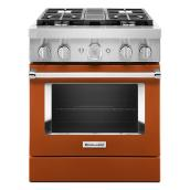 "KitchenAid Dual-Fuel Range - 30"" - 4 Burners - Scorched Orange"