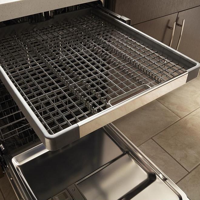 "Whirlpool Built-In Dishwasher - Third Rack - 24"" - Black"