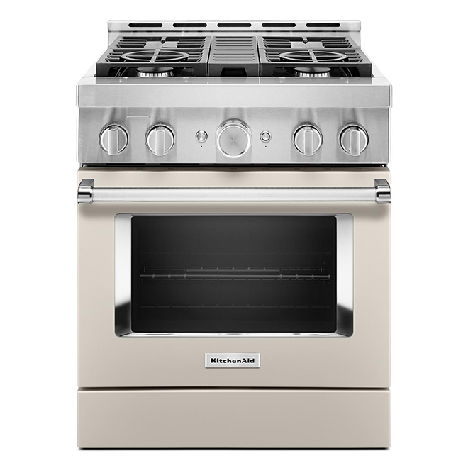 "KitchenAid Gas Range - 30"" - 4 Burners - Milkshake"
