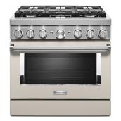 "Dual-Fuel 6-Burner Range - 5.1 cu. ft. - 36"" - Milkshake"