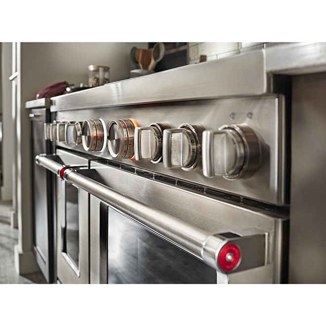 """Gas Range - 6 Burners/2 Ovens - 48"""" - 6.3 cu. ft.- Stainless"""
