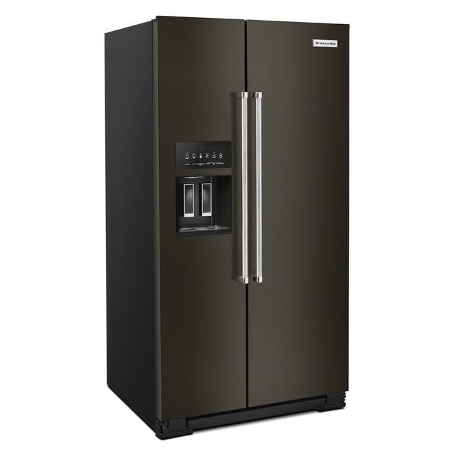 Side-by-Side Refrigerator - PrintShield - 24.8 cu. ft - Black SS