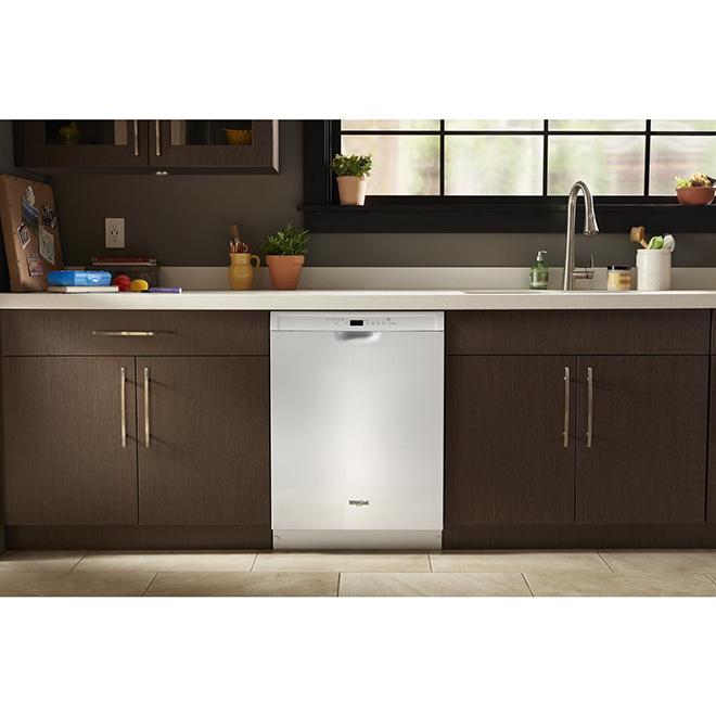 """Lave-vaisselle encastré à 3 paniers, 24"""", blanc"""