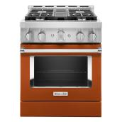 "Gas Range - 4 Burners - 4.1 cu. ft. - 30"" - Scorched Orange"