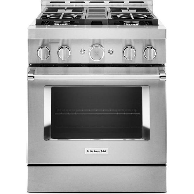 "KitchenAid Gas Range - 4 Burners - 30"" - 4.1 cu. ft. - SS"