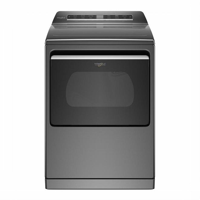 Smart Electric Dryer - Steam - 7.4 cu.ft. - Chrome Shadow