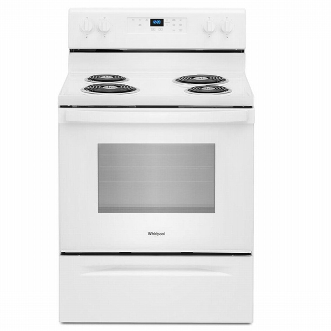 """Self-Cleaning Electric Range - 4.8 cu. ft - 30"""" - White"""