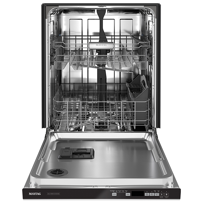 Lave-vaisselle encastrable Maytag, cycle PowerBlast, inox