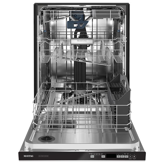 "Lave-vaisselle encastrable Maytag, 3e panier, 24"", inox"