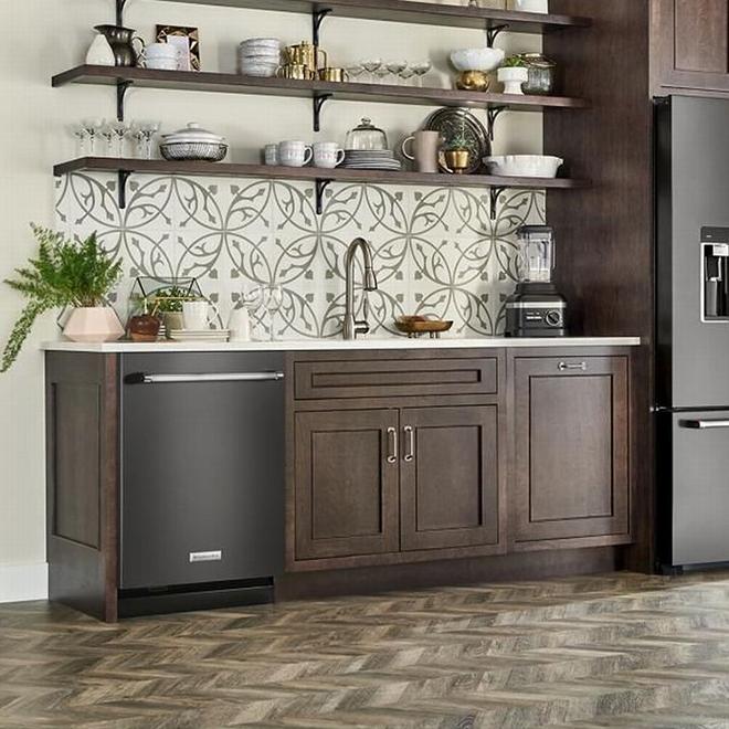 "KitchenAid Built-In Dishwasher with ProWash - 24"" - Black SS"