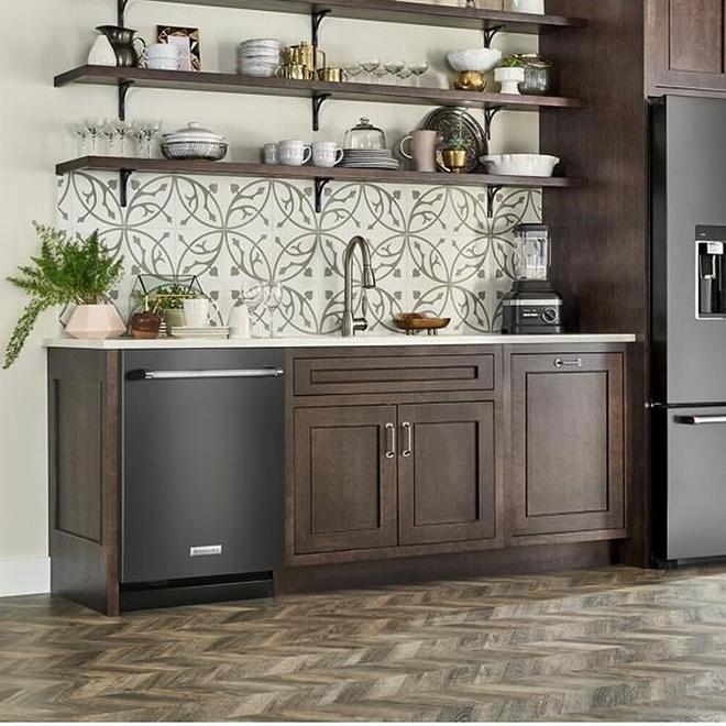 "KitchenAid Dishwasher - PrintShield - 24"" - Black Stainless"
