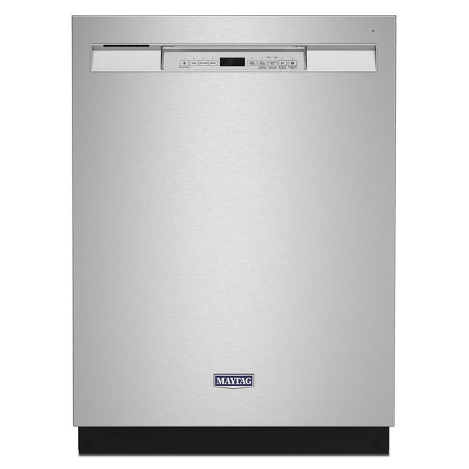 Maytag Built-In Dishwasher with PowerBlast(R) Cycle and Pocket Handle - 24-in - Stainless Steel