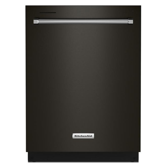 KitchenAid 39-Decibel Built-In Dishwasher with Hidden Controls - 24-in - Black Stainless Steel