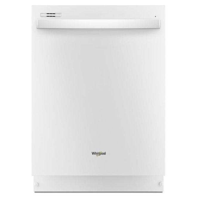 Lave-vaisselle encastré Whirlpool avec commandes dissimulées, 24 po, blanc